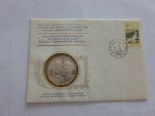 enveloppe timbre médaille en argent premier jour 10 octobre 1975 Afrique du sud