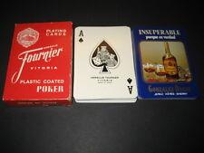 Baraja Poker Fournier. Publicidad BRANDY INSUPERABLE. JEREZ. Playing cards.