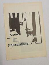 Pubblicità epoca 1958 AGIP BENZINA AUTO advertising publicitè werbung reklame