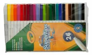 Crayola Supertips Washable Colouring Pens Assorted Ink Pack of 24