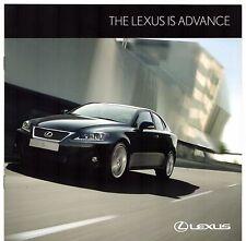 Lexus IS Advance 2011-12 UK Market Sales Brochure 250 200d