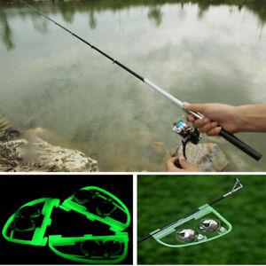 Fluorescent Fishing Tackle Rod Pole Tip Clip Twin Bell Alarm Alert Night Rin-lk