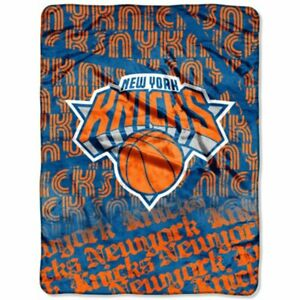 NBA New York Knicks Large Ceiling Silk Throw Blanket Redux Basketball