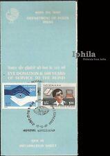 Service of Blind 1987 Eye Donation Blindness Blindheit Cécité handicapé India