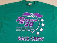 The Peachtree at 28 T-Shirt VTG 1997 Race Crew Atlanta Georgia AJC Track Club