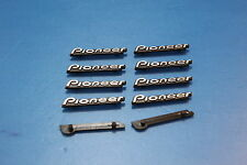 PIONEER Logo Plastic Badge x 10 pcs (30mm x 5mm)