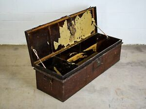 Antique Vintage Metal Original Military Army Officer 'Hereford' Chest