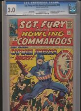 Sgt. Fury #13 (Dec 1964, Marvel) CGC 3.0! Captain America & Bucky! KEY! WOW!