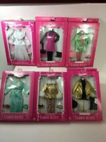 Lot of 6 ~ Mattel Barbie Vintage FASHION AVENUE Doll Clothes Outfits, NIB