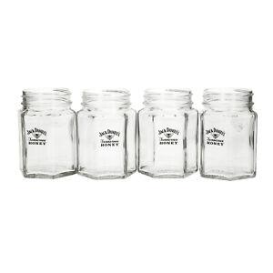 8 x Jack Daniel's Tennessee Honey Whiskey Mason Honey Drinking Jar/Glass