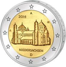 Germany 2 € EURO Commemorative Coin 2014 UNC Niedersachsen Mintmark D