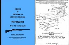 Winchester Model 12 Featherweight Sequence of Take-Down and Assembly Operations