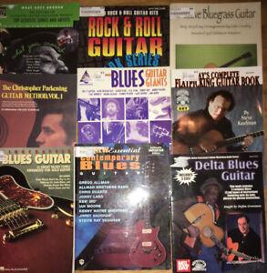 9 Guitar Mel Bay Jazz Tab Blues Bluegrass Cd DVD SONGBOOK Books Lot 2 CDs 1 DVD