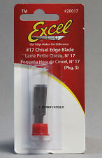 EXCEL #17 CHISEL EDGE KNIFE  BLADES (5) models wood cutter carving EXL 20017 NEW