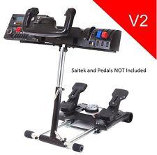 Saitek Stand Flight Pro Flight Yoke System Wheel Stand Simulator V2 Deluxe