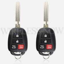 2 Car Key Keyless Entry Remote 4B For 2013 2014 2015 2016 2017 Toyota Highlander