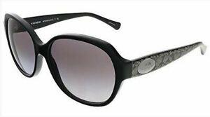 Authentic Coach Sunglasses HC8150 5346/11 Black Frames Gray Lens 59MM