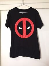 Marvel Deadpool Mens Black Graphic T Shirt Size S Good Condition