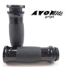"Avon Black Gel Motorcycle Grips 1"" Handlebar 08-14 Harley Davidson"