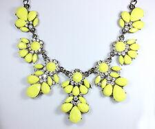 Yellow Resin Honey Bee Crystal Flower Women Statement Choker Collar Necklace