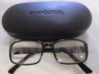 Synoptik black glasses frames. 0404. With case.