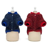 Winter Warm Sweater Outwear Puppy Costume Dog Flannel Coat Jacket Pet Clothing