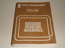 Werkstatthandbuch Service Manual Oldsmobile 1983 Firenza / Cutlass Ciera / Omega