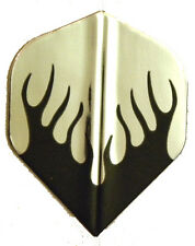 Dart Flights 5 Amerithon Black, Silver Flames Std Sets