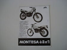 advertising Pubblicità 1981 MONTESA COTA TRIAL 349/123
