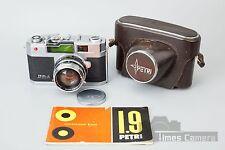 Petri 1.9 Color Corrected Super 35mm Rangefinder Film Camera w/ 45mm f/1.9 Lens