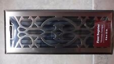 "Floor Register Victorian Antique Finish Steel  4 x 12"" Accord Louvered"