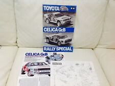 TAMIYA ORIGINAL RC MANUAL 1/12 TOYOTA CELICA GrB rally Special KIT NO 58064