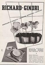 PUBBLICITA' 1937 RICHARD GINORI  PORCELLANE TERRAGLIE ARTISTICHE DOCCIA MAIOLICA