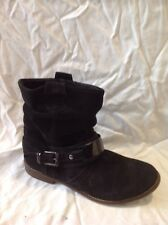 New Look Black Ankle Suede Boots Size 38