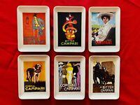🔴 CAMPARI 6 portacenere collezione Completa dei manifesti Dudovich Cappiello
