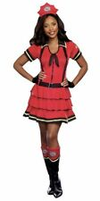 Firefighter Costume Womens Large (12-14) Cosplay Roleplay Outfit Red Dress New
