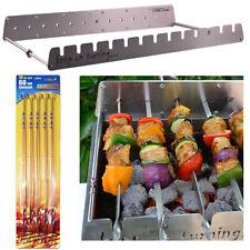 13 Pincho kebab Shish Brocheta automático giratorio Asador Parrilla Barbacoa Set