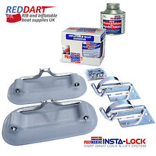 Snap Davits for Inflatable Dinghy Insta-Lock System Hypalon Boat Adhesive Kit
