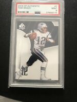 2008 SP Authentic Tom Brady #7 PSA 9 MINT GOAT!!