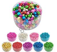 100pcs Lots Mixed Colors Jingle Bells Beads Pendants Jewelry Finding Making DIY