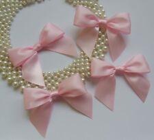 "3""(W) Lt. Pink Satin Ribbon Bow Appliques-Lots of 15 (R0046K)"