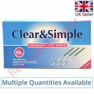 Clear & Simple Early High Sensitivity Pregnancy 20mIU of HGC Urine Test Strips
