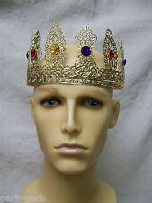 Fancy Gold Jewel Cross Fleur De Lis Crown Renaissance Medieval Royal King Queen