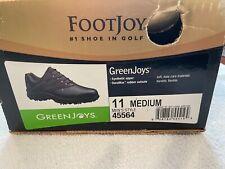 NEW Footjoy Greenjoys Golf Shoes Men's 11 M Black & Dark Brown 45564 Soft Spikes