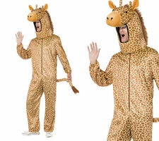 Giraffe All In One Adults Mens Ladies Fancy Dress Animal Giraffe Outfit Med