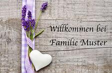 Fußmatte Lavendel Herz Türvorleger Familie Vintage Fußabstreifer Romantisch Land