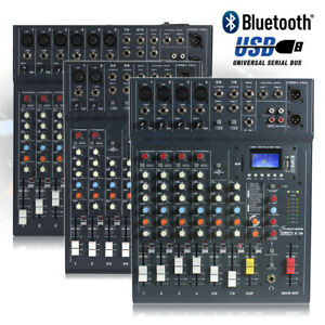 CHOICE Studiomaster CLUB XS 6 8 10 Channel PA Mixer Desk USB Bluetooth Playback
