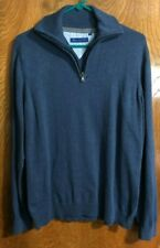 Report Collection Pullover Sweater Large Navy Blue Mens 1/4 Zip