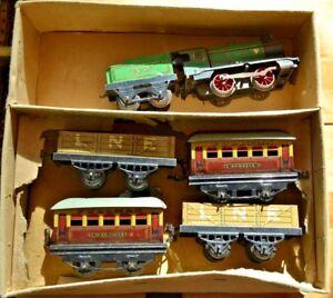 Vintage Hornby O Gauge Clockwork Train Set; Fully Operational;