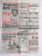 Bild Zeitung 18.1.1986, Barbara Valentin, Gaby Dohm, Iglesias, Gassmann, O.W.Fis